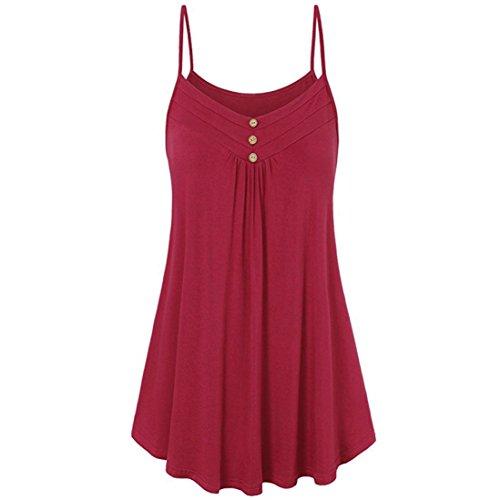 Cashmere Knit Weste (KIMODO T Shirt Damen Sommer Bluse Damen Weste Tank Top Crop Lose Blusen Große Größe Oberteile S-5XL Schwarz Rot weiß Mode 2019)