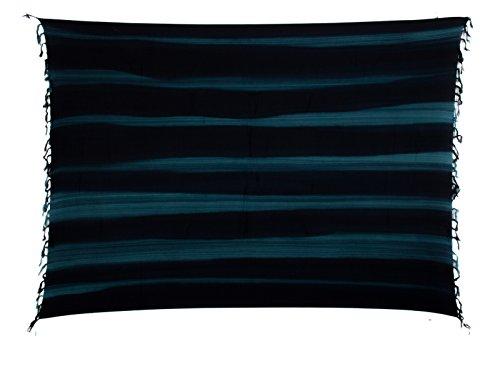 Ca 35 Luxus Batik Pareo Sarong Lunghi Dhoti Handtuch Strandtuch Schal Beach Tücher Ca 170cm x 110cm Original von EL GMBH Schnalle Kokosnuss 2 er Set ( Beispielfoto)