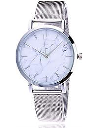 6d062bf7c152 Amazon.es  malla metalica - Relojes de pulsera   Mujer  Relojes