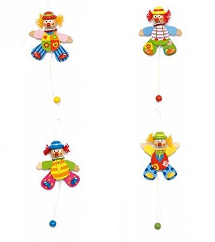 Unbekannt Hampelmann Hampelfigur Figur Clown Holz Woody Woody Kinderland