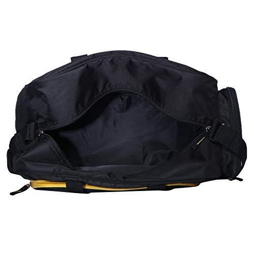 d87a28168 58% OFF on United Colors of Benetton Duffle Bag Polyester 50 cms Black/Yellow  Travel Duffle (0IP6AMDBBY04I) on Amazon | PaisaWapas.com