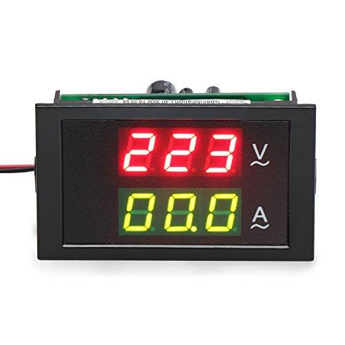 DROK® 220V / 240V 80V-300V / 100A Digital AC actual Voltímetro Amperímetro Gauge + Sentido Transformador LED dual Displayr voltímetro Gauge + transformador Detección de
