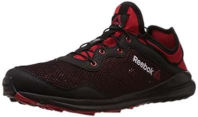 Reebok Men's Reebok One Rush Black and Red Rush Mesh Walking Shoes - 13 Uk