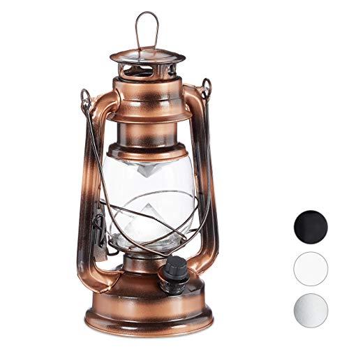 Relaxdays Farol LED, Lámpara Vintage Decorativa