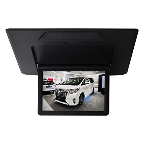 "Z-SGYX 13"" Auto Deckenmonitor 1080P HD TFT LCD Roof Monitor Ultra Thin Overhead Video Player für Car MP3 MP5 LED Flip Down Monitor,Black"