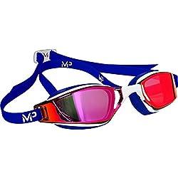 Aqua Sphere Unisex Xceed–Gafas de natación, Unisex, color Blanco/rojo/azul, tamaño n/a