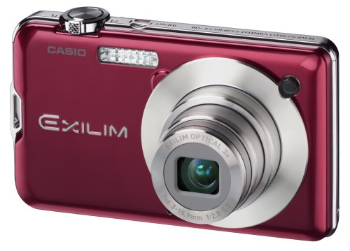 Casio EXILIM EX-S10 RD Digitalkamera (10 Megapixel, 3-Fach Opt. Zoom, 6,9 cm (2,7 Zoll) Display) rot 10 Mp, 2.7 Lcd