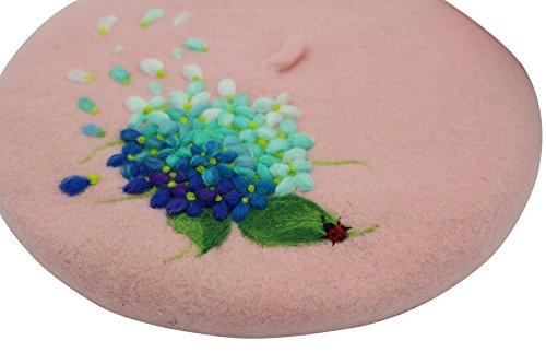 Ysting berretto in lana con ago feltro sakura, cappello modello Ago infeltrito, fresco e romantico (Knit Poncho Modello)