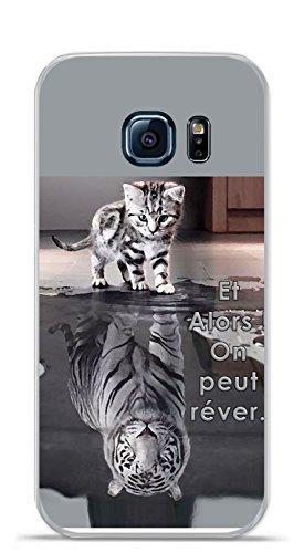 5e6ee6589a8 Onozo Carcasa TPU Gel Suave Samsung Galaxy S7 Design gato tigre blanco y  alors.