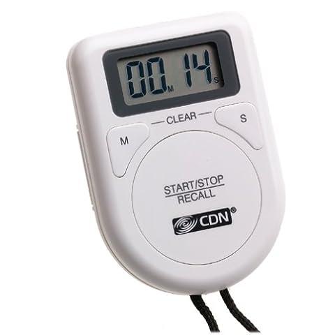 CDN - Temporizador digital con cuerda, color blanco