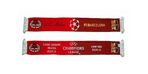 Milan Bufanda oficial vs Barcelona la Liga de Campeones 2012