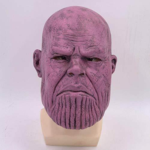SEJNGF Avengers Mask Cosplay Hero Helm Halloween Infinity Handschuhe Latex Kopfbedeckung,Purple
