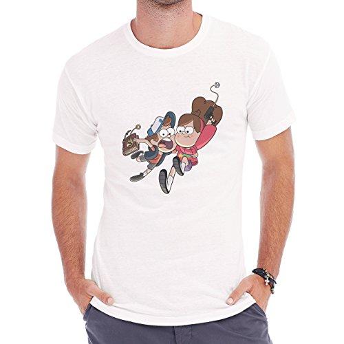 Mable Dipper Jump Scream Book Herren T-Shirt Weiß