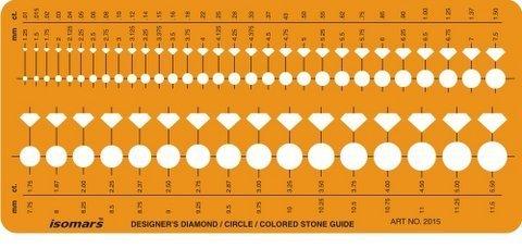 FineArt Brilliant Diamond farbige Edelstein Guide Formen Symbole Zeichnung Ausarbeitung Template Stencil