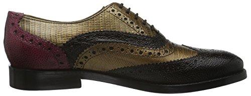 Melvin & Hamilton Amelie 10, Chaussures à Lacets Femme Marron - Braun (scotch Dk.Brown/Guana Met.Bronze/Guana FUXIA/LS)