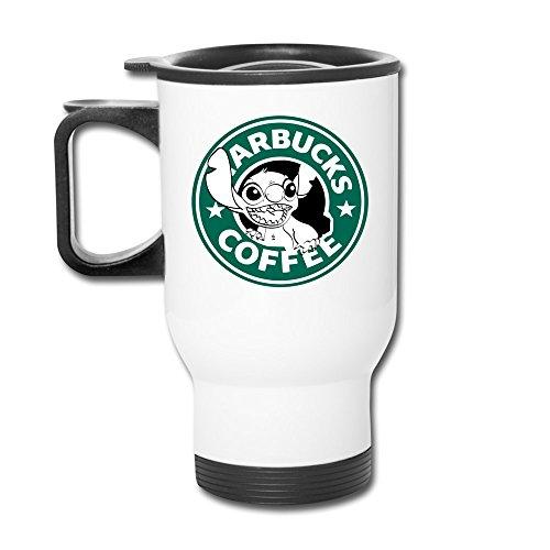 Weiß Lilo und Stitch Starbucks Kaffee Thermos Tasse Edelstahl Kaffee Tassen