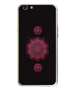 PrintVisa Designer Back Case Cover for Oppo F1s (Heart Shape Circle Embroidery Handicraft)