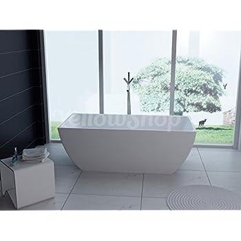 Vasca da bagno margherita freestanding bianca con piedini colore argento vintage garantita 2 - Vasche da bagno retro ...