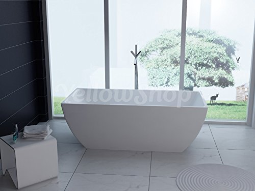 Yellowshop - vasca vasche da bagno freestanding modello unika, free standing design moderno centro stanza cm 170x80 altezza 58