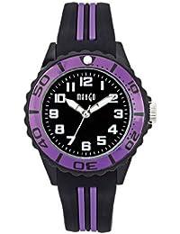 Mango A68359-2SS5A - Reloj para mujeres, correa de silicona color negro
