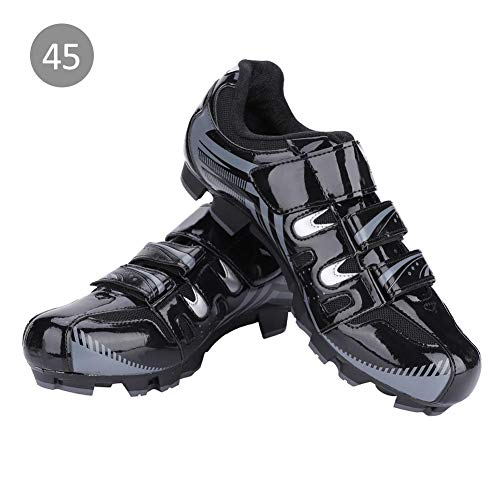 Alomejor 1 Paar Radfahren Schuhe Atmungsaktiv Männer Mountainbikeschuhe SPD Anti-Rutsch Radsportschuhe für MTB Mountainbike(45-Schwatz)