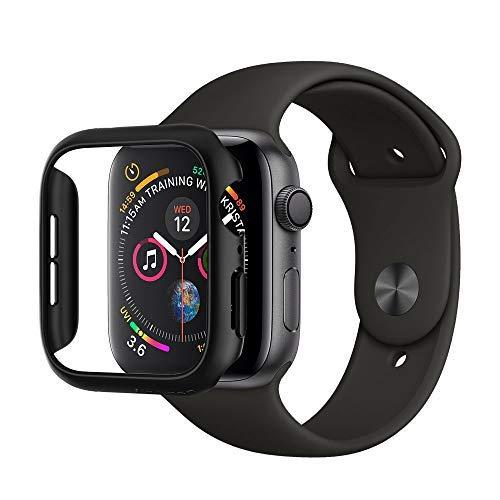 Spigen [Thin Fit Kompatibel mit Apple Watch 4 44mm [Schwarz] Elegante Leichte Hülle Kratzschutz Slim Minimalistisch PC Schale Hardcase Schutzhülle Schlank Case Cover (062CS24474)