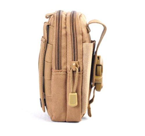 GOUQIN Outdoor Rucksack Klassische Mode Outdoor Tragbare Kleine Taschen Von 5,5-Zoll-Bildschirm Ist Groß. Das Handy Paket Taille - Paket Klettern Auf Die Kampagne Taschen Braun