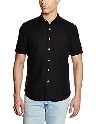 Levis Mens Casual Shirt (6901778139944_24577-0001_Large_Black)