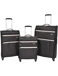 5c46fc657 Super Lightweight Luggage 4 Wheel Suitcase Black Expandable Soft Case  Travel Bag - Ozone