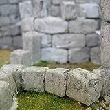 Quadratische Bausteine – Inhalt: 50 Stück (bereits koloriert) – Made IN Germany – Für den BAU Ihrer WEIHNACHTSKRIPPE geeignet (z.B. für realistische Mauern etc.) – Maße: 10 x 10 x 10 mm – C337446