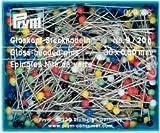 Glaskopf Stecknadeln 20 g Kunststoffdose
