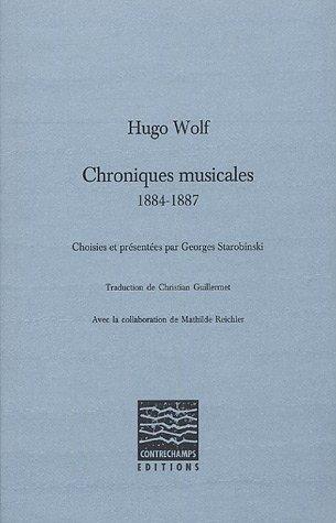 Chroniques musicales : 1884-1887