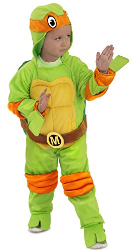 TMNT Teenage Mutant Ninja Turtles Michelangelo One-Piece Jumpsuit (Kind (Ninja Kostüm Halloween April Turtles)