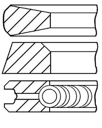 Goetze Engine 08-105500-00 Segments de pistons