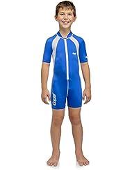 Cressi Caicos - Traje de buceo, color azul / blanco, talla XXL (8-10 años)