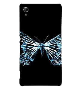 PrintVisa Butterfly Design 3D Hard Polycarbonate Designer Back Case Cover for Sony Xperia Z3 + Plus