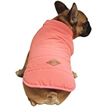 Rantow Capa de chaqueta forrada de polar de perro de mascota Botones de invierno de cachorro