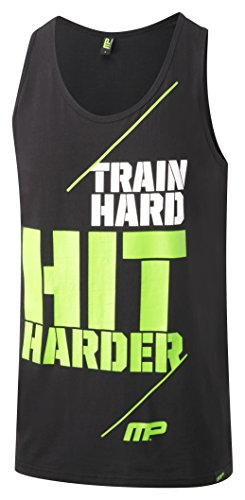 Musclepharm MPVST438 MUSCLE PHARM PRINTED VEST BLACK X LARGE - Hombres Graphic 438 Vest - Negro, X-Large