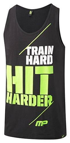 Muscle Pharm Herren Textilbekleidung Printed Vest, Black, L, MPVST438 -