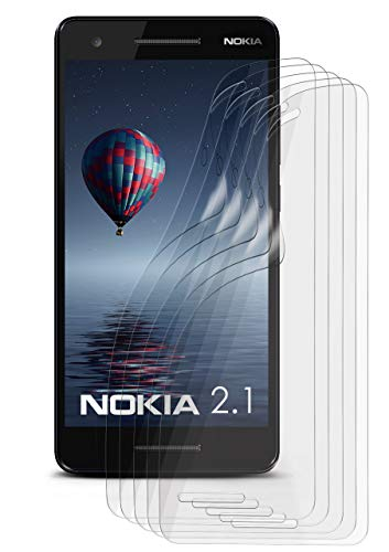 5X Nokia 2.1 | Schutzfolie Matt Bildschirm Schutz [Anti-Reflex] Screen Protector Fingerprint Handy-Folie Matte Bildschirmschutz-Folie für Nokia 2.1 Bildschirmfolie