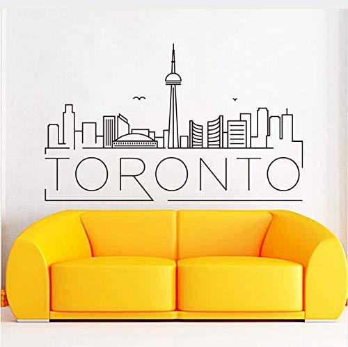 Kyzaa Pvc-Toronto-Wand-Aufkleber-Ausgangsdekoration-Entfernbares Haus-Dekor-Wasserdichte Abziehbilder