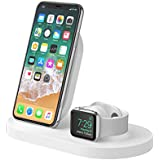 Belkin Boost Up Wireless Charging Dock for iPhone + Apple Watch + USB-A Port (iPhone Dock/Wireless Charger for iPhone XS, XS Max, XR, X, 8/8 Plus, Apple Watch 4, 3, 2, 1) - White