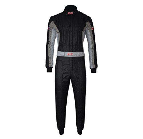 Unbekannt Str-Club-Race Anzug-Schicht FIA Zulassung-Ideal für Rally/rallys, Black/Dark Grey/Grey, EU54-56 (L)