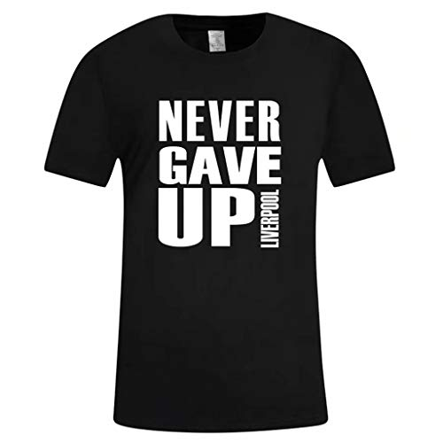 SHE.White Never Give Up Casual Style Supporter T-Shirt Sommer Crew Neck Tall Tee Sportswear Kurzarm Hemden S-3XL -