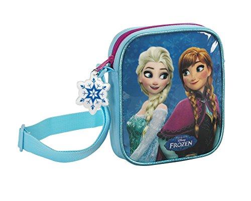 Disney Frozen - Die Eiskönigin Anna und Elsa, Handtasche Schultertasche (S222), blau/weiß, 18 x 16 x 4 cm (Anna Tasche)