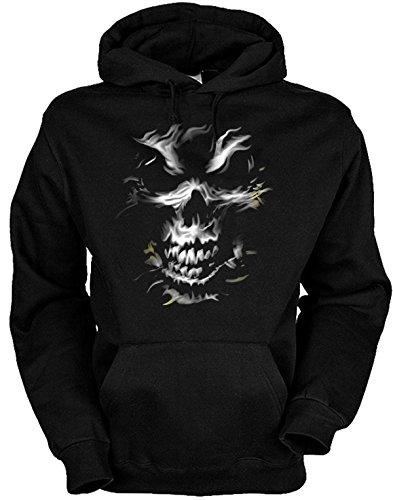 mit Gothic-Motiv: Silver Skull Größe XL Farbe schwarz (Lustige Halloween-symbole)