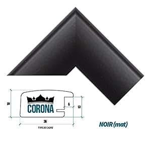 cadre photo corona 45 x 60 cm noir mat 7 couleurs noir blanc h tre brun fonc alu. Black Bedroom Furniture Sets. Home Design Ideas