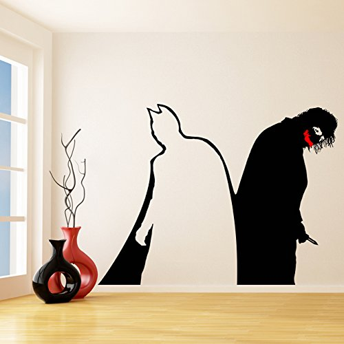 (200x 155cm) vinilo de pared adhesivo Batman & Joker adhesivo/Dark Knight/