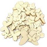 gemischt Größe Natürlich Holz Schmetterlinge Uni Holz Shabby Chic Craft Scrapbook Vintage Konfetti Schmetterling, holz, beige, Verschiedene Größen