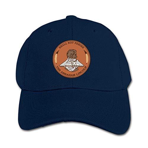 n USS Abraham Lincoln CVN-72 Insignia Baseball Cap Adjustable Trucker Cap Sun Visor Hat for Boys Girls Kinderbaseballmütze ()